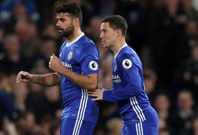 Eden Hazard begs striker Diego Costa to return to Chelsea