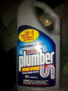 A bottle of Mister Plumber Drain Opener, from Dollar Tree