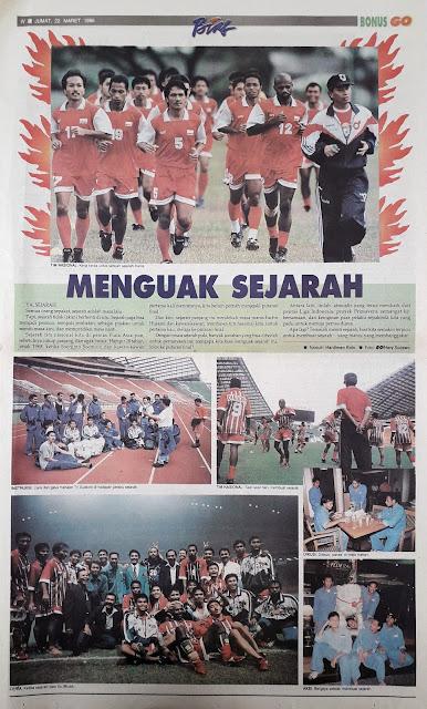 SEPAKBOLA INDONESIA MENGUAK SEJARAH
