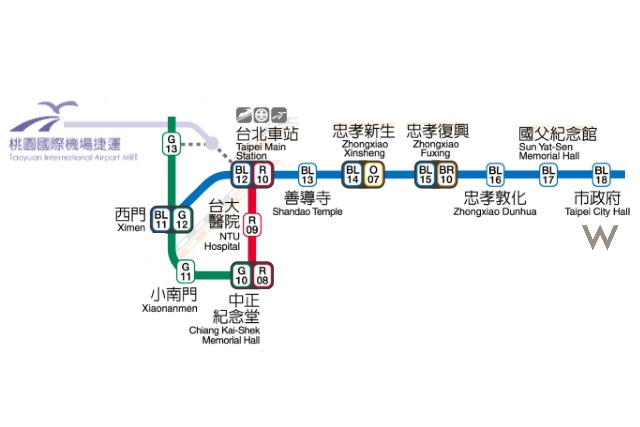 How to Get to W Taipei from Taoyuan International Airport