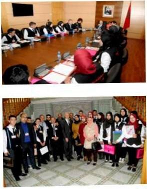 السيد رشيد بن المختار يستقبل أعضاء نادي المواطنة وحقوق الإنسان والدفاع عن الوحدة الترابية لثانوية النصر التأهيلية بتازة