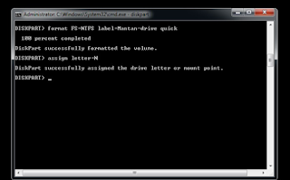 Cara Format Flashdisk Melalui Command Prompt (CMD)