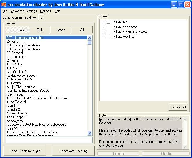 🎉 Psx emulator cheat plugin | Playstation Emulator Cheater