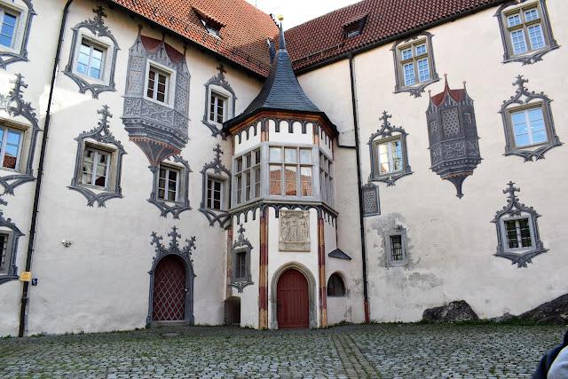 Gli affreschi della fortezza tardo gotica di Fussen
