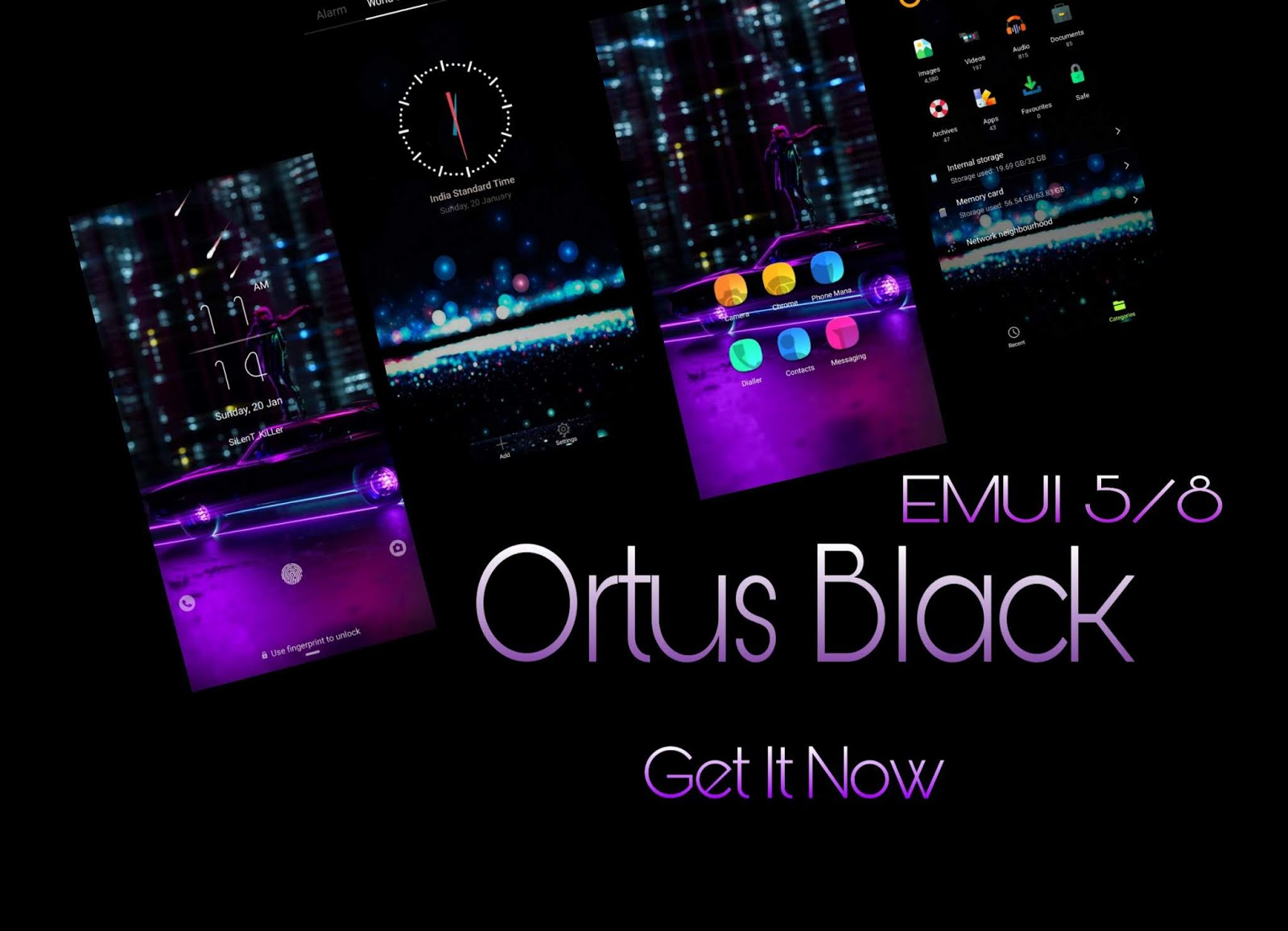 Ortus Black] Download Ortus Black Theme For EMUI 5/8 - EMUI