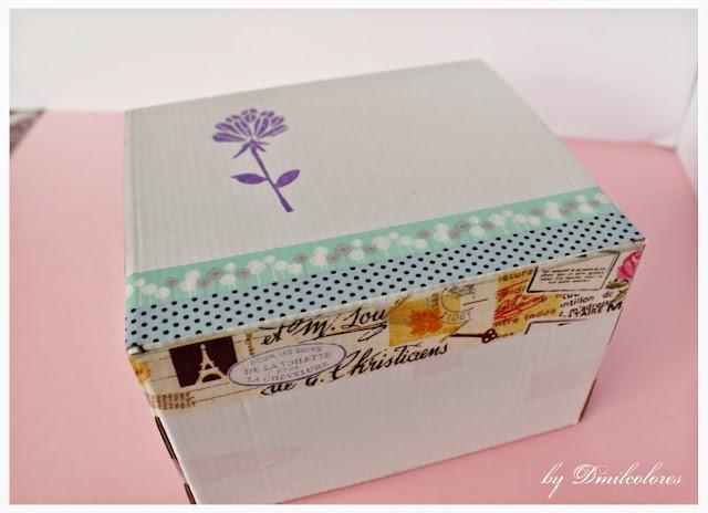 caja decorada washi tapes