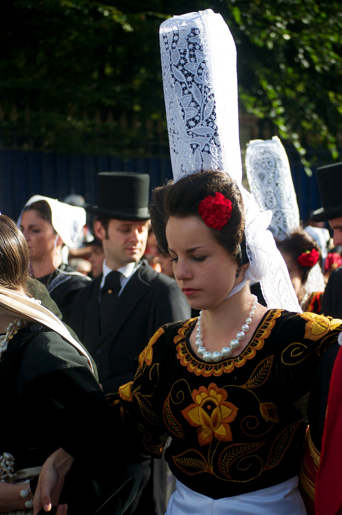 Local Style Traditional Headdress Of The Women Of Brittany