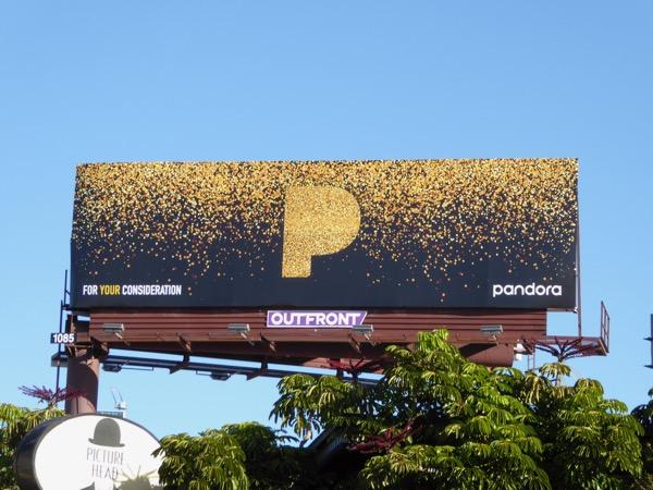 Pandora For your consideration billboard