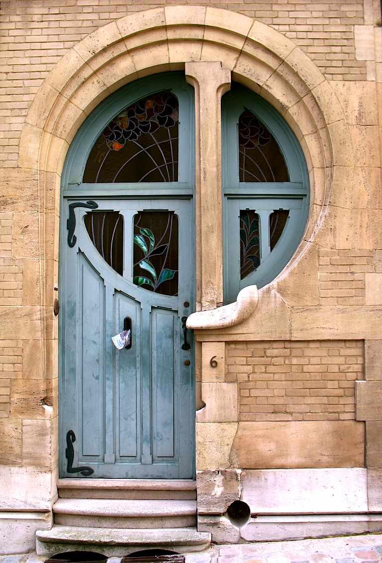 a photograph of an old door
