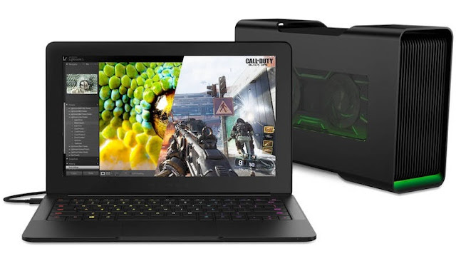 Razer Blade Stealth Laptop, Razer Core Graphics, Stargazer Camera
