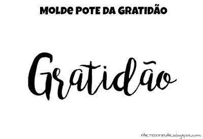 molde pote da gratidão