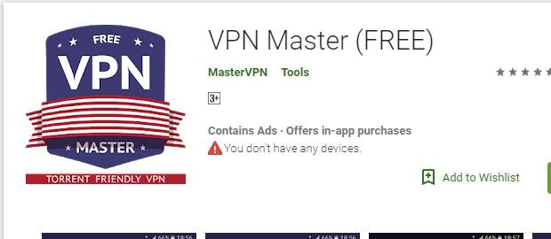 Internet Gratis VPN Master Terbaru 2019