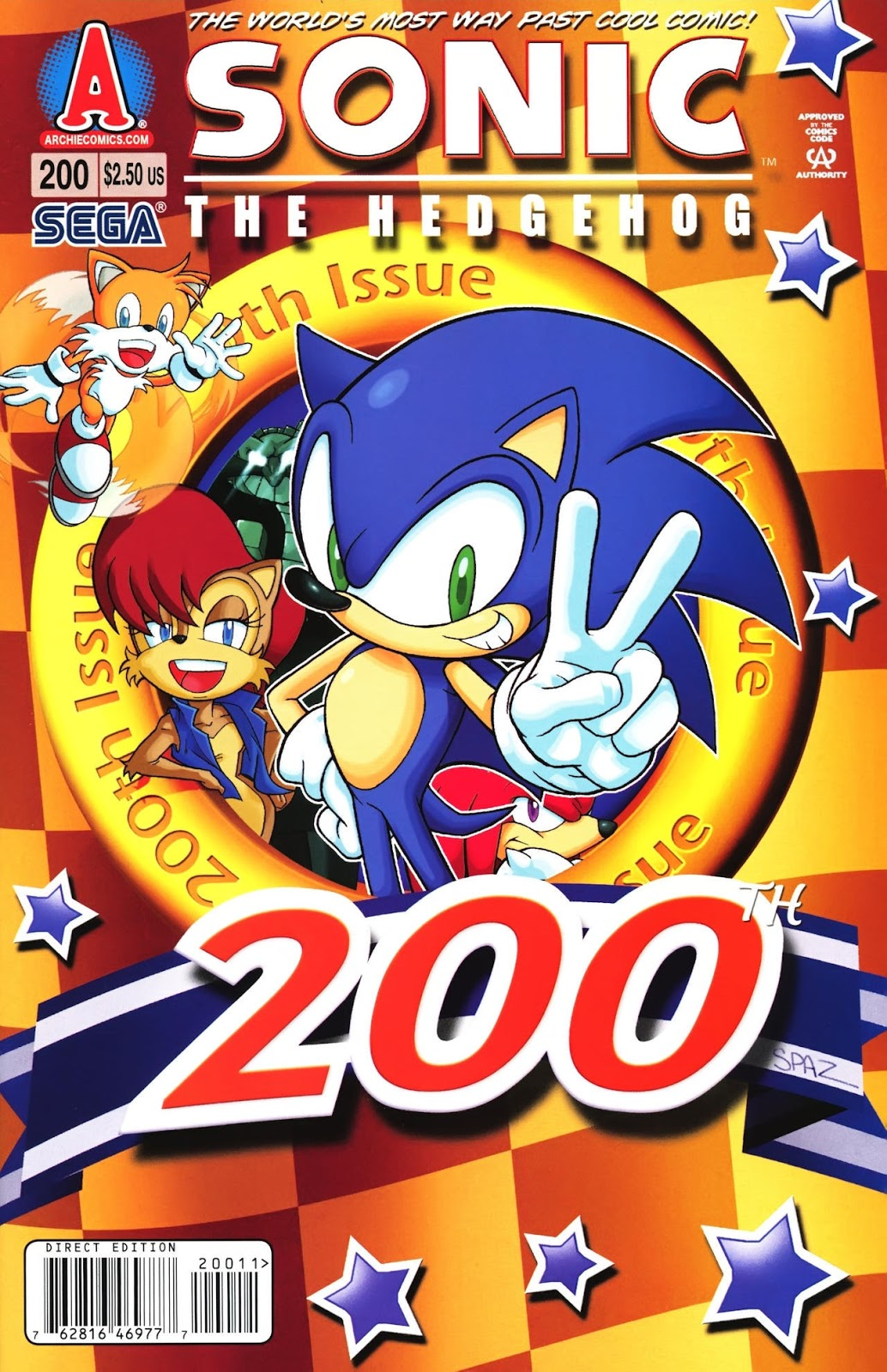 Hedgehogs Can T Swim Sonic The Hedgehog Issue 200