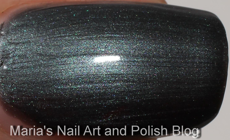 Marias Nail Art And Polish Blog Chanel Black Pearl 513 Swatches