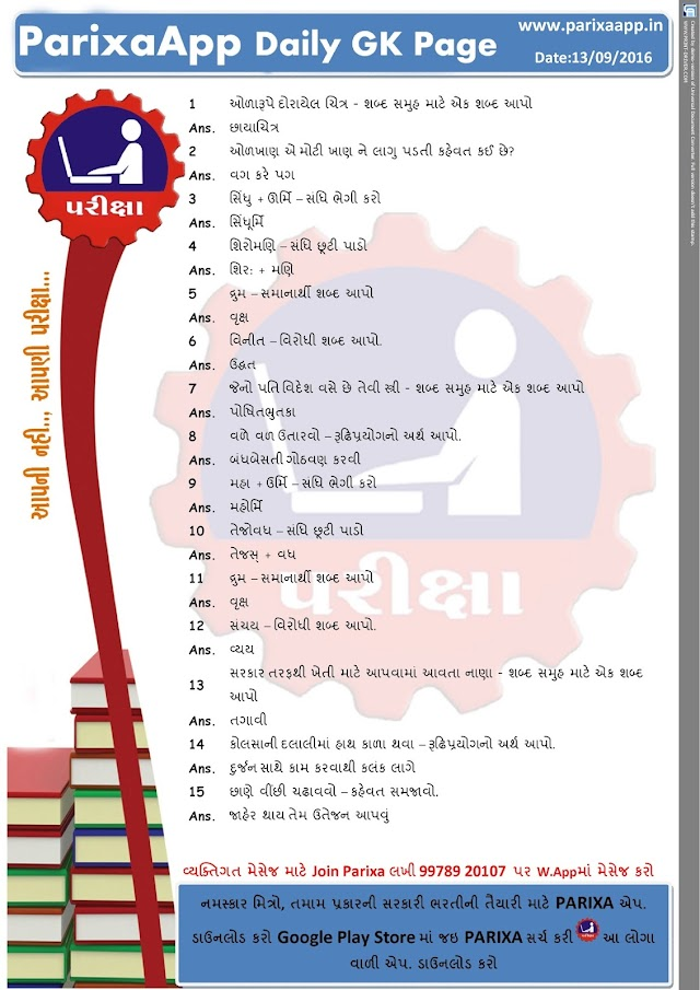 ParixaApp Daily GK Page Date: 13/06/2016