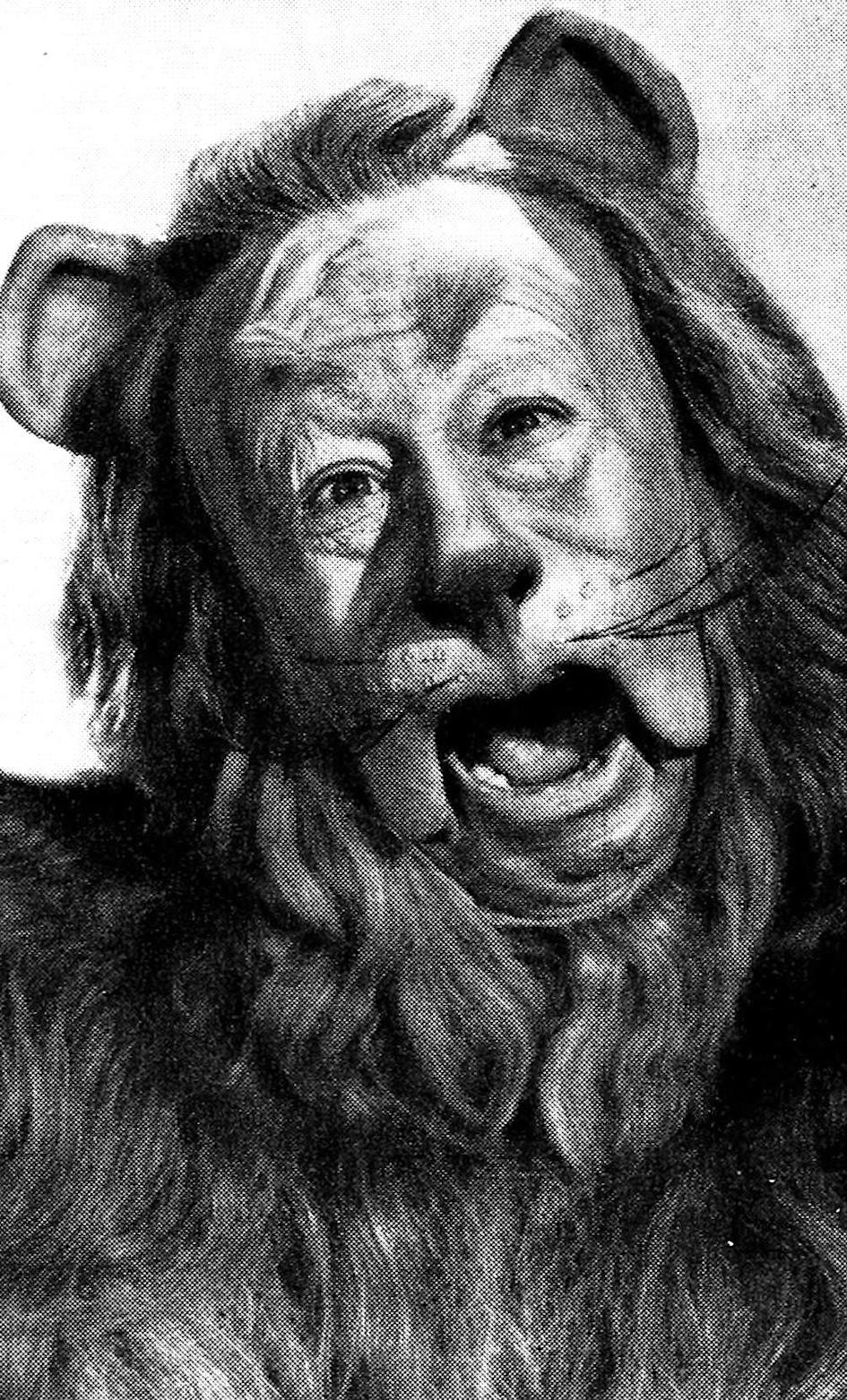 Bert Lahr as the Cowardly Lion in the 1939 film 'The Wizard Of Oz'