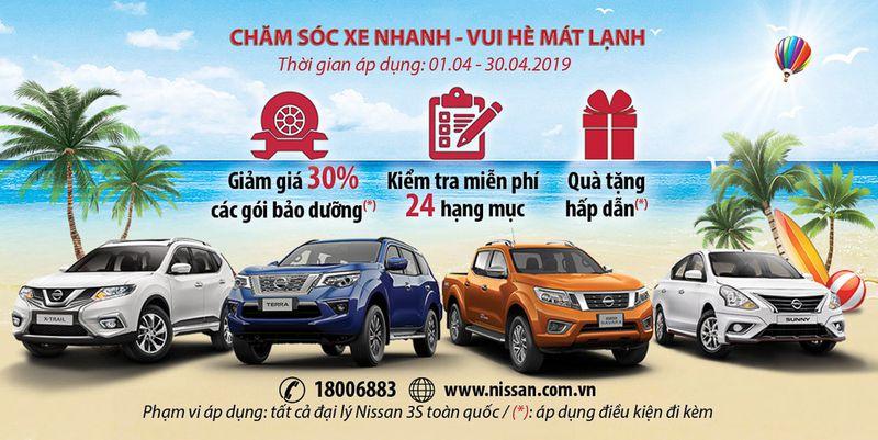 Nissan Việt Nam giảm giá bảo dưỡng 30% 4/2019
