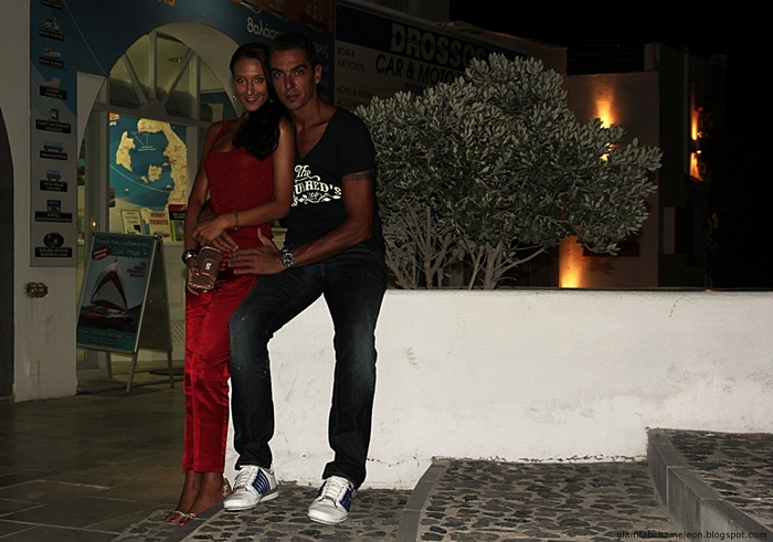 Santorini stylish couples