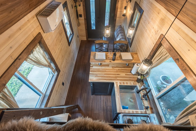 log cabin tiny house