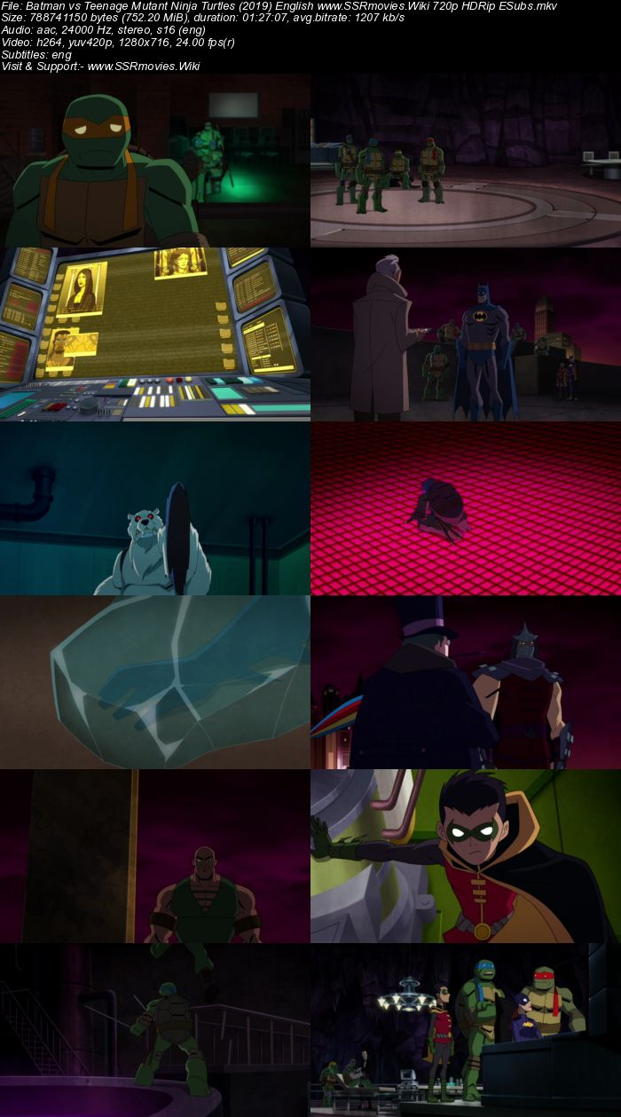 Batman vs Teenage Mutant Ninja Turtles (2019) English 720p HDRip x264 Movie Download