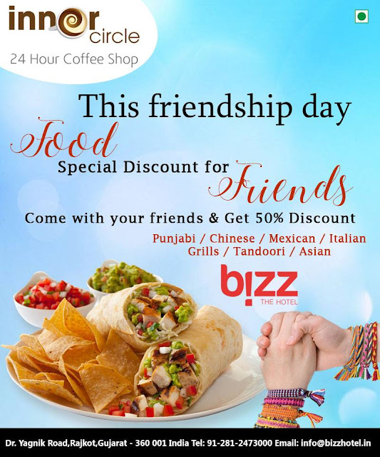FOOD SPECIAL DISCOUNT AT BIZZ HOTEL RAJKOT