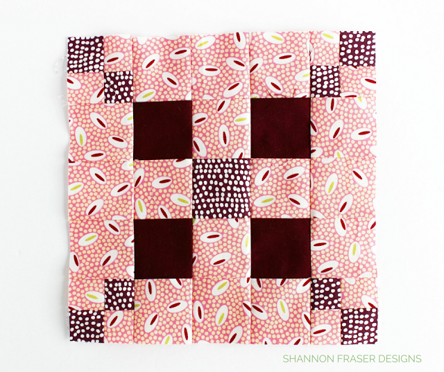 Irish Chain Variation Quilt Block | Shannon Fraser Designs | Modern Quilting | Sew-A-Long | Sewcial Bee Sampler with Sharon Holland Designs & Maureen Cracknell