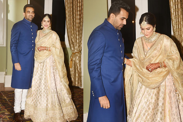 Sagarika Wears Sabyasachi Lehenga Choli For Her Wedding