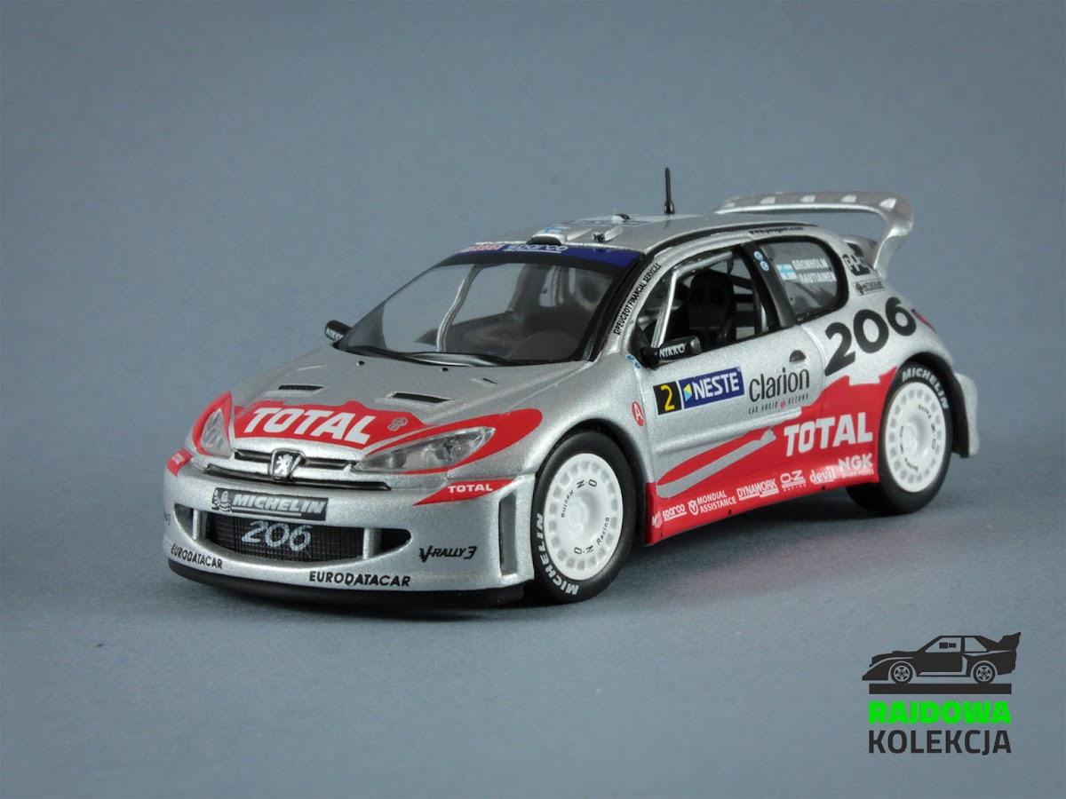 IXO Altaya Peugeot 206 WRC Neste Oil Rally 2002