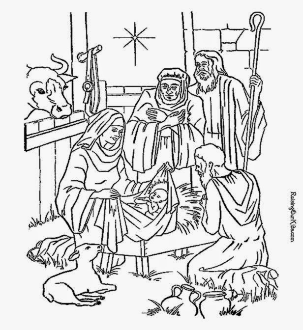 Nativity Coloring Sheet  Free Coloring Sheet