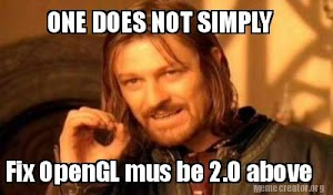 Cara mengatasi Error OpenGL must be 2.0 above