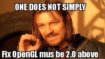 Cara mengatasi Error OpenGL must be 2.0 above