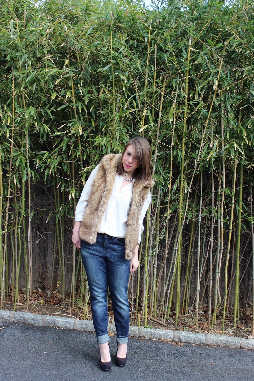 f4db6710671 Blouse & Jeans: Madewell Vest: Zara Necklace: J. Crew Shoes: Target