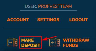 Создание депозита в Bitster LTD