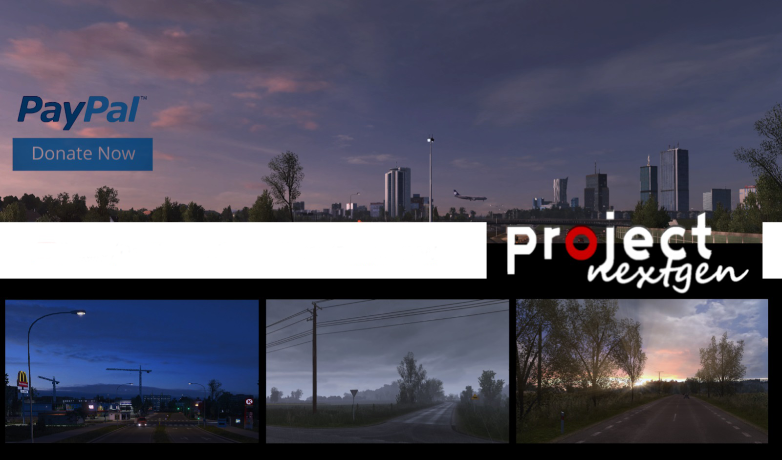 Project Next Gen Graphic Mod 1 6 byDamianSVW - Euro Truck Simulator