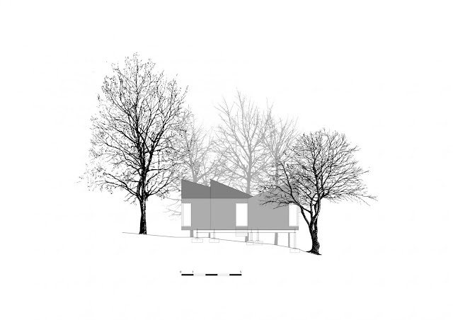 Drawing of small resort house
