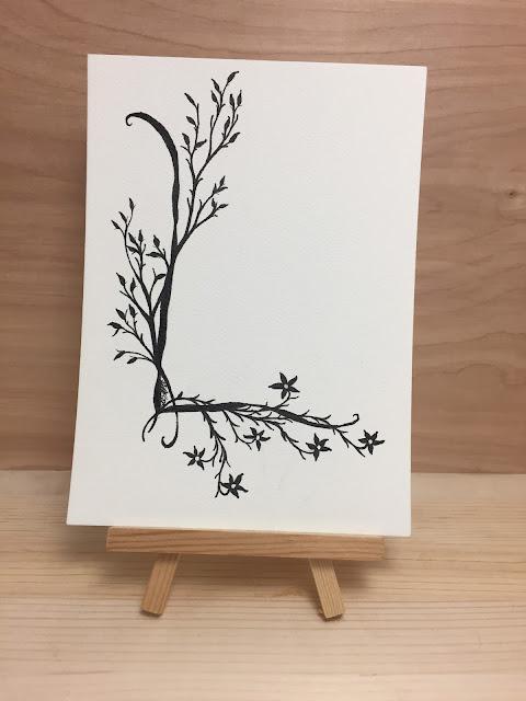Inked Inspirations by SLMP - Monogrammed L