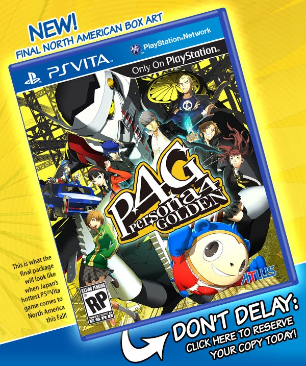 PS Vita Roundup: Persona 4 Golden US boxart shown off