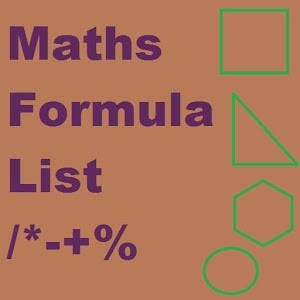 MATHS FORMULA AND FUNDAS FOR ALL EXAM