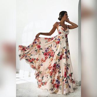 Αμάνικο μάξι φλοράλ  φόρεμα ABIGAIL