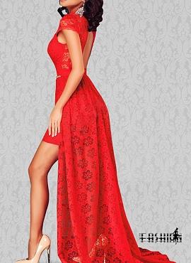 rochie rosie ieftina