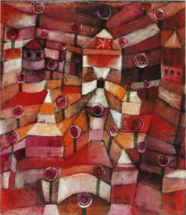 Paul Klee painting - Rose Garden