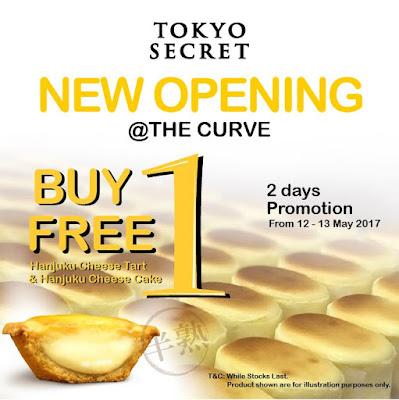 Tokyo Secret Buy 1 Free 1 Hanjuku Cheese Tart Cake New Opening Promo