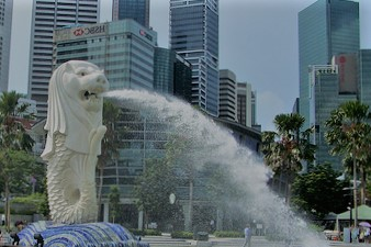 The Beautiful Merlion in Singapore
