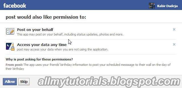 Send Birthday Wishes On Facebook Automatically