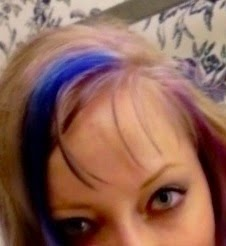 blonde hair Punky Colours Flamingo Pink and Special Effects Electric Blue dye
