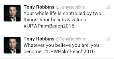 Tony Robbins' inspirational quotes on Twitter