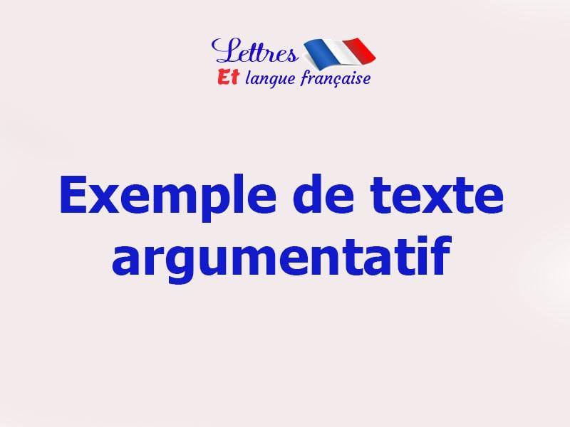 Dialogue argumentatif exemple