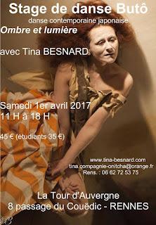 Tina, Besnard, danse, contemporaine, japonaise, stage, atelier, Rennes, japon, ille et vilaine, bretagne,