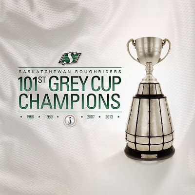 Saskatchewan Roughriders Champions of the 101st Grey Cup