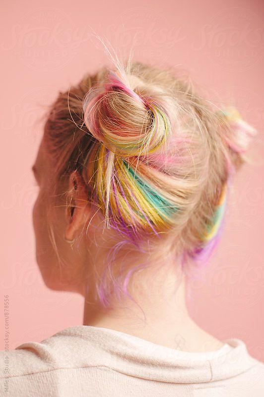 amazing colorful hairstyle idea